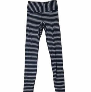 ivivva striped leggings black and colourful size 8